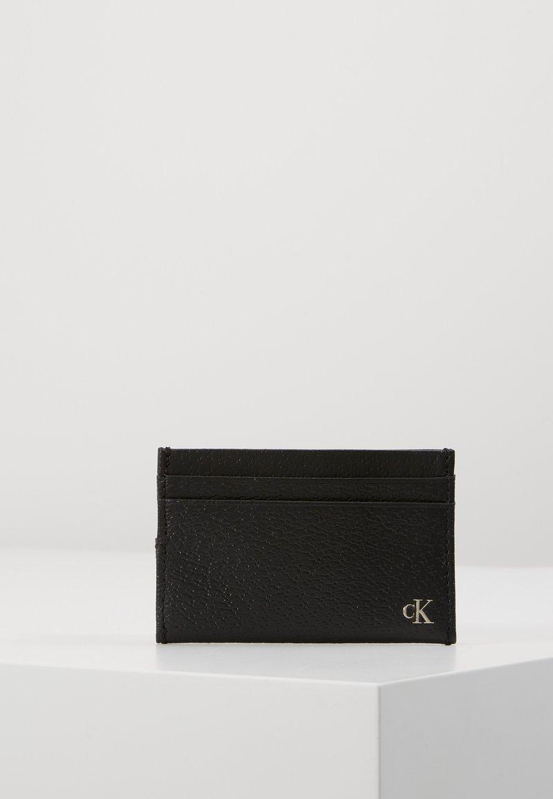 Calvin Klein Jeans - MONOGRAM TEXTURE CARDCASE - Wallet - black