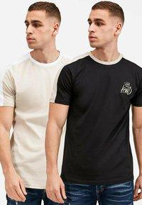 Kings Will Dream - 2PACK - Print T-shirt - oatmeal / black - 1