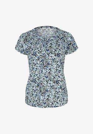 MIT RAFFUNGEN - Print T-shirt - navy floral design
