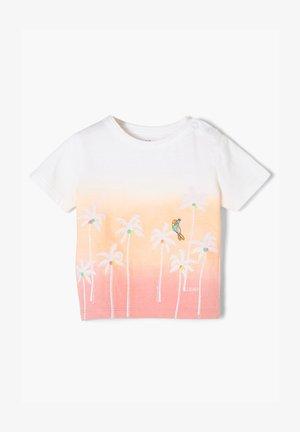 Print T-shirt - light pink apricot