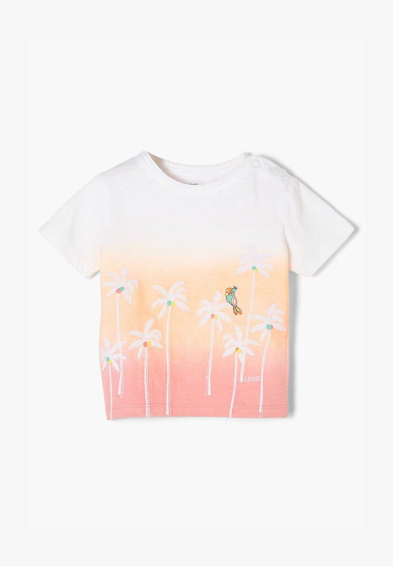 s.Oliver - Print T-shirt - light pink apricot
