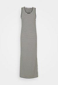 Calvin Klein - LOGO SCOOP MAXI DRESS - Maxi-jurk - black/bright white - 4