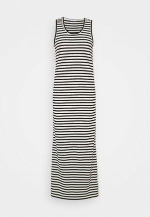 LOGO SCOOP MAXI DRESS - Maxi-jurk - black/bright white