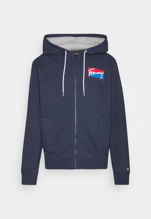 ESSENTIAL ZIP THROUGH - Zip-up sweatshirt - twilight navy