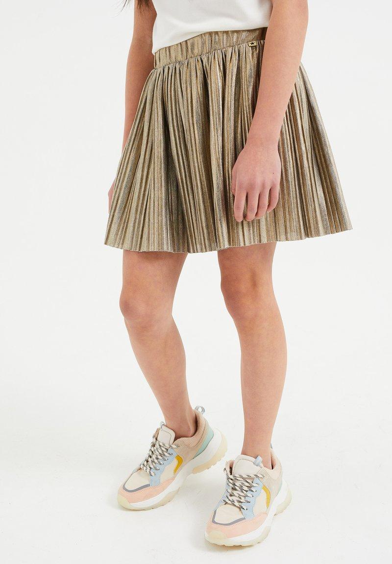 WE Fashion - A-line skirt - gold