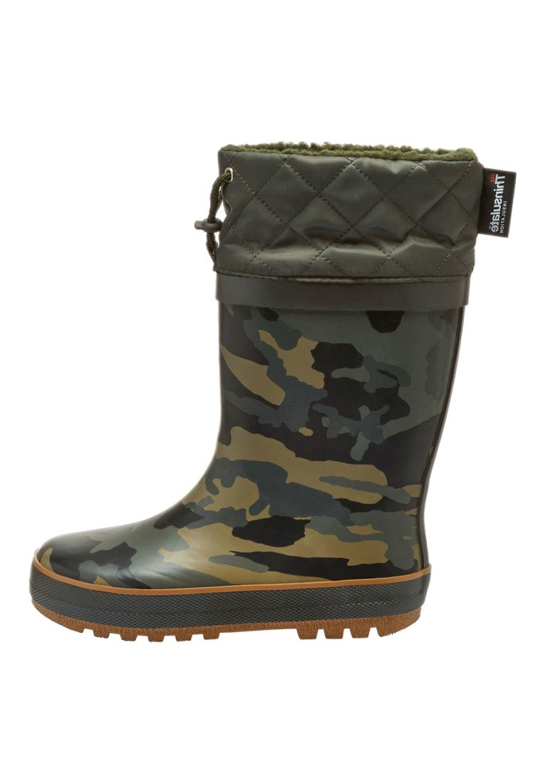 Next - CUFF WELLIES (OLDER BOYS) - Botas de agua - green