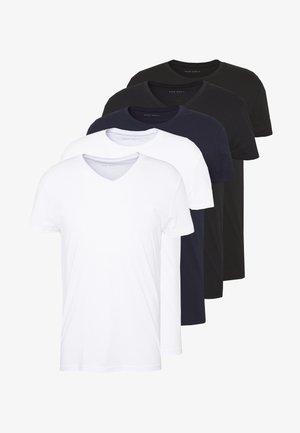 5 PACK - T-shirt basique - white/black