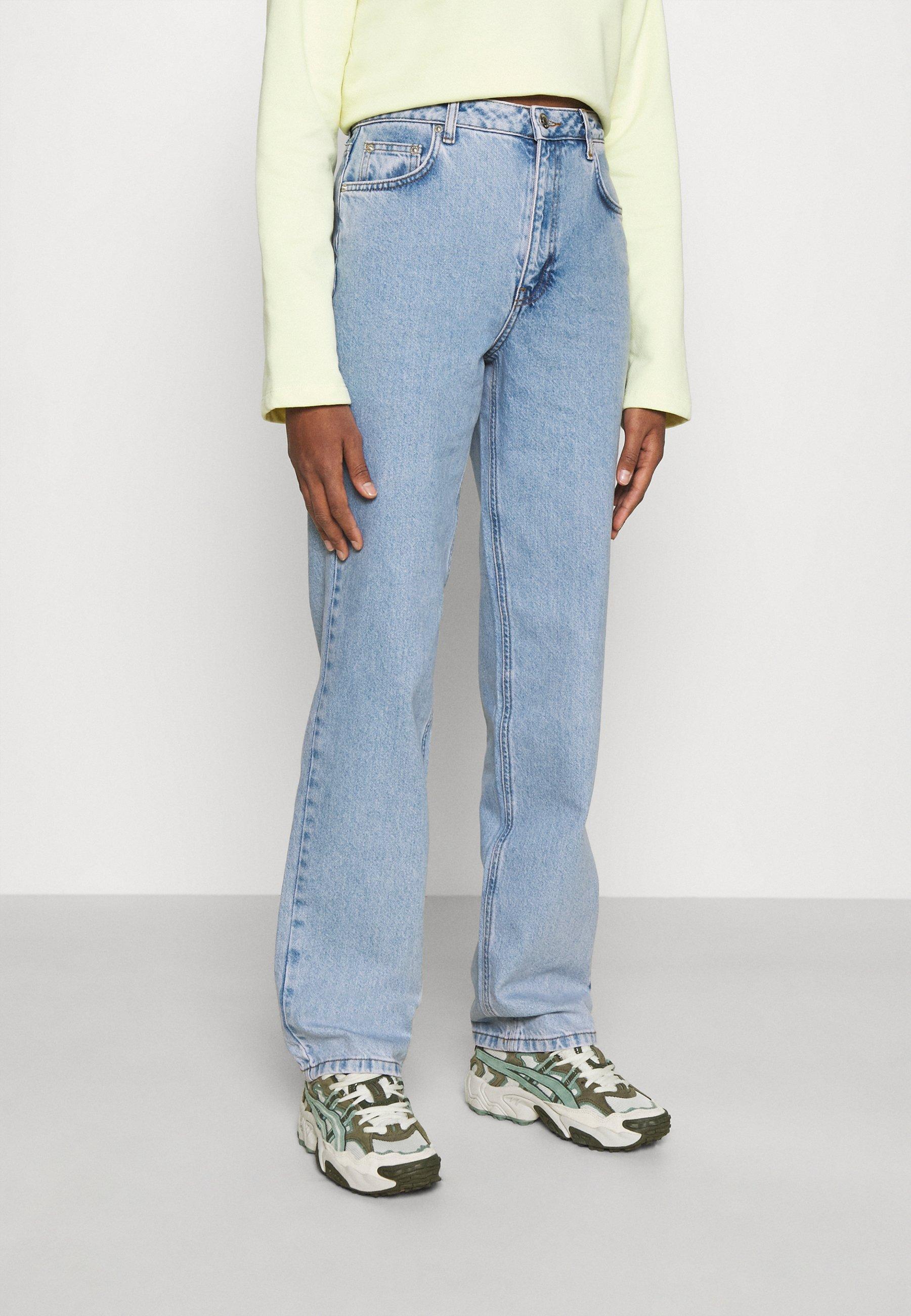 Women CONTRAST POCKET HIGH WAIST - Straight leg jeans