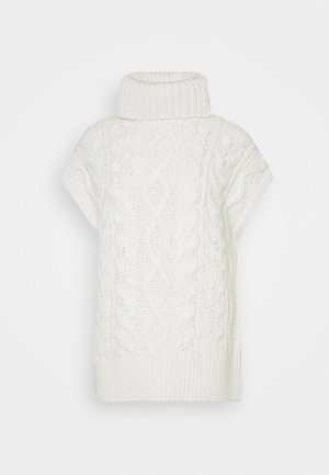 CABLE TURTLENECK - Jumper - winter natural white