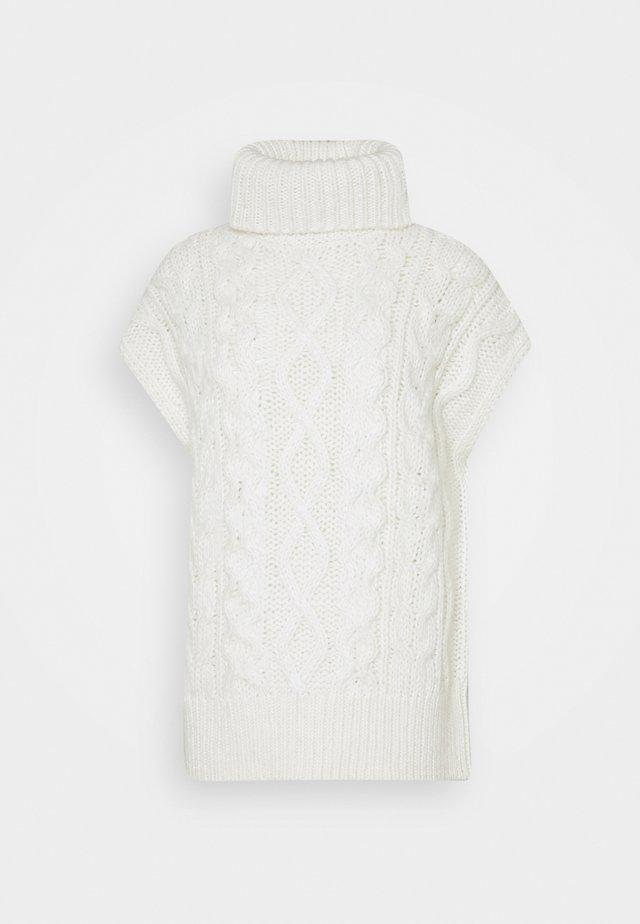 CABLE TURTLENECK - Maglione - winter natural white