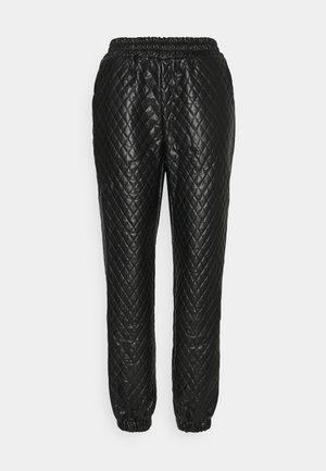 DIAMOND QUILTED JOGGER - Joggebukse - black