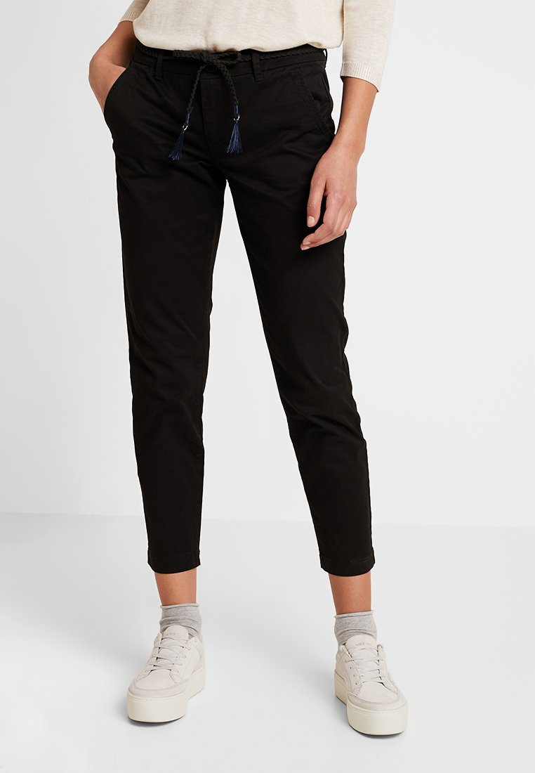 ONLY - ONLEVELYN ANKLE PANT  - Chinos - black