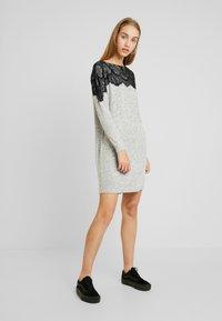 Vero Moda - VMBLIMA BOATNECK DRESS - Jumper dress - light grey melange/black - 0