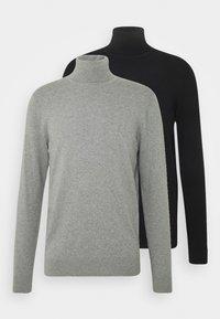 2 PACK - Neule - black/mottled light grey