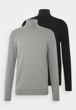 2 PACK - Trui - black/mottled light grey