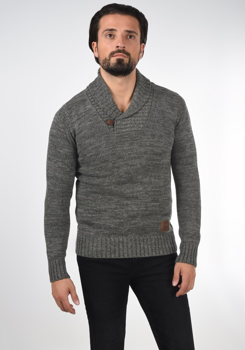 Solid - PHIL - Jumper - dark grey