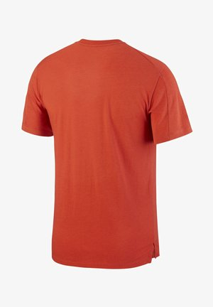 BURNOUT - Print T-shirt - mantra orange/mystic dates