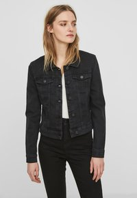 Noisy May - NMDEBRA L/S DENIM JACKET - Džínová bunda - black - 0