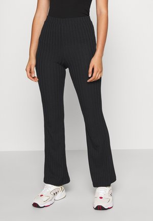 TORA TROUSERS - Kangashousut - black dark