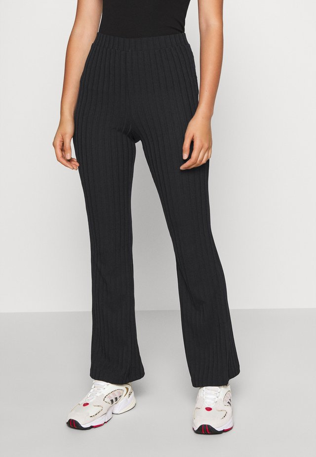TORA TROUSERS - Bukse - black dark