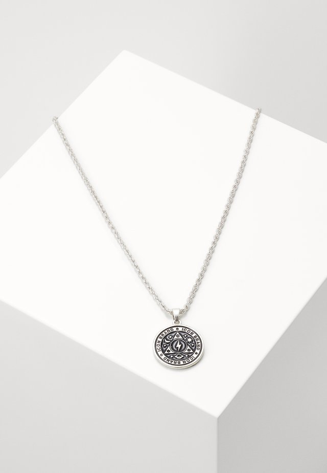 CELESTIAL ENAMEL PENDANT - Collar - silver-coloured