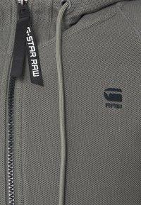 G-Star - TONAL JIRGI HOOD  - Zip-up hoodie - honeycomb jersey io - gs grey - 6