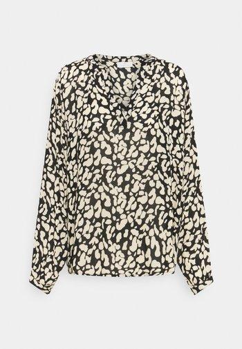 TURBO BLOUSE - Long sleeved top - black/beige