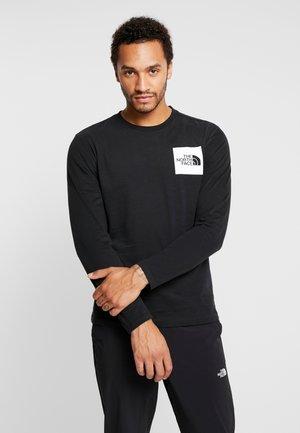 FINE TEE  - T-shirt à manches longues - black/white