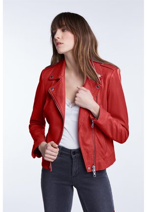 THE TYLER - Leather jacket - barbados cherry