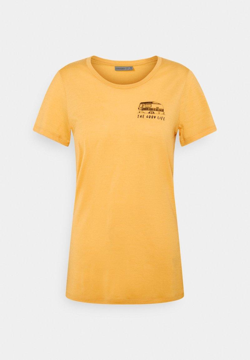 Icebreaker - TECH LITE LOW CREW THE GOOD LIFE - T-shirt con stampa - safflower