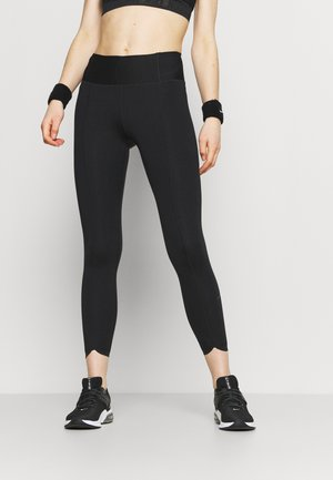 ONE LUXE CROP - Tights - black/white
