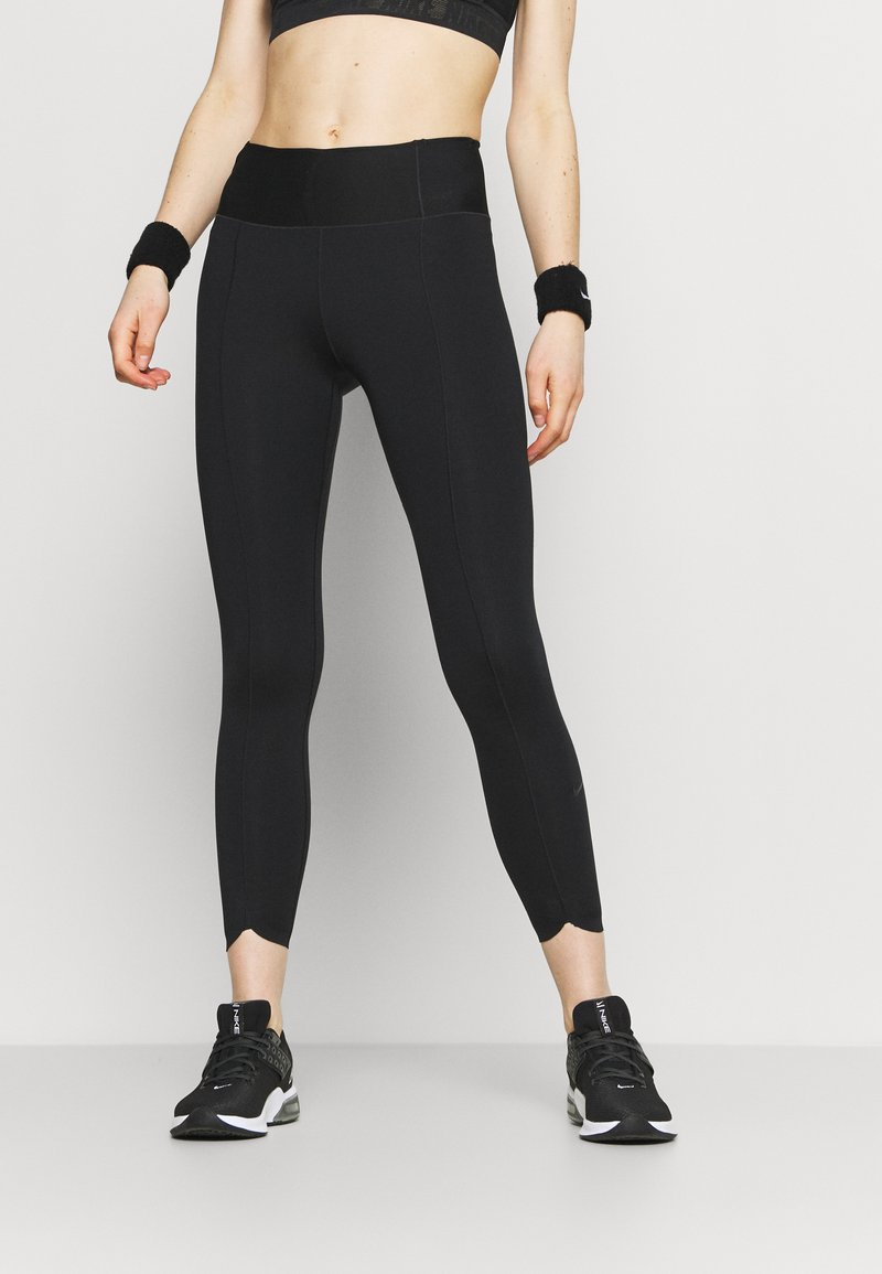 Nike Performance - ONE LUXE CROP - Collant - black/white