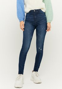TALLY WEiJL - Jeans Skinny Fit - dark-blue denim - 0