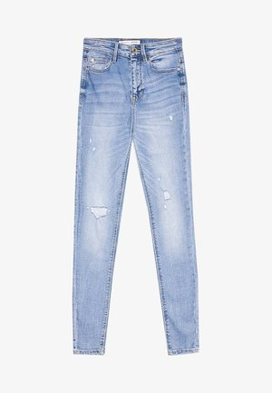 Skinny-Farkut - light-blue denim