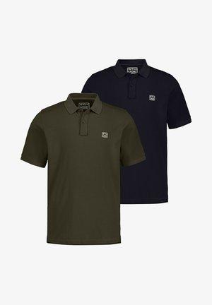 2 PACK - Poloshirt - dunkel oliv