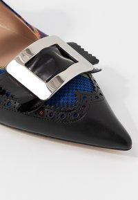 Mulberry - Ankle strap ballet pumps - nero/blue - 5
