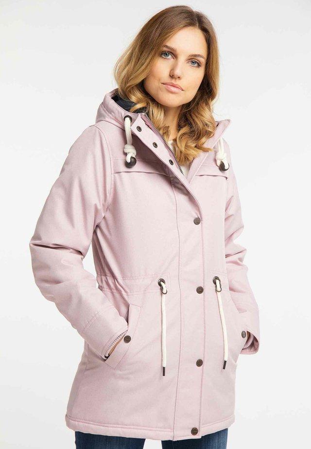 Winterjas - rosa melange