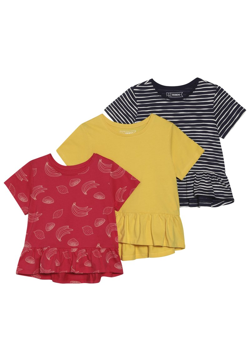 Friboo - 3 PACK - T-shirt print - INK