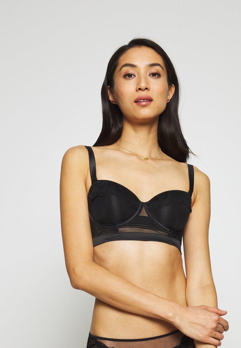 Calvin Klein Underwear - SPRING ROSE STRAPLESS - Stropløse & variable BH'er - black
