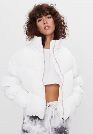 PUFFJACKE MIT RAFFUNG  - Winter jacket - white