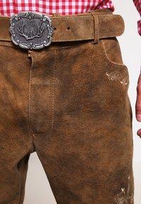 Stockerpoint - CORBI - Kožené kalhoty - havanna - 3