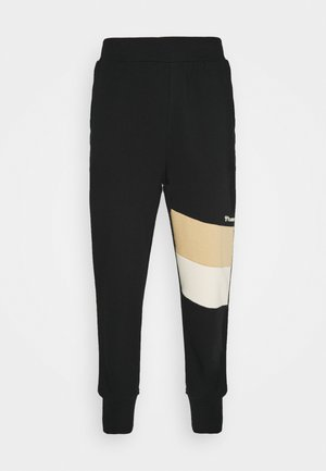 HMLAIDAN REGULAR PANTS - Spodnie treningowe - black