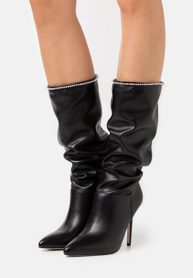 BEBO - SHORE - Boots med høye hæler - black