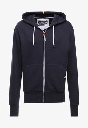 Zip-up hoodie - american navy