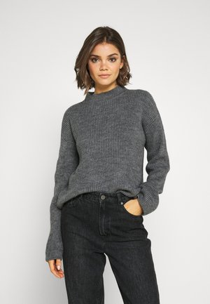 Pullover - mottled dark grey