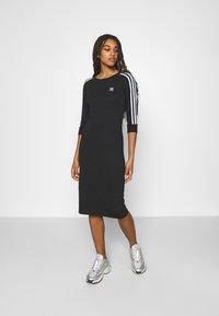 adidas Originals - STRIPES DRESS - Trikoomekko - black - 0