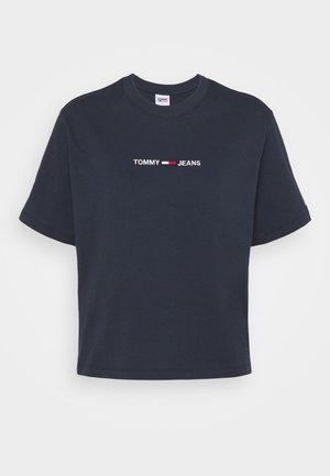 LINEAR LOGO TEE - Print T-shirt - twilight navy
