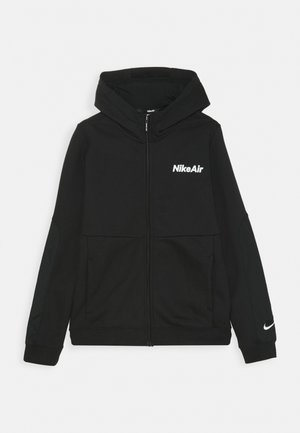 AIR HOODIE - veste en sweat zippée - black