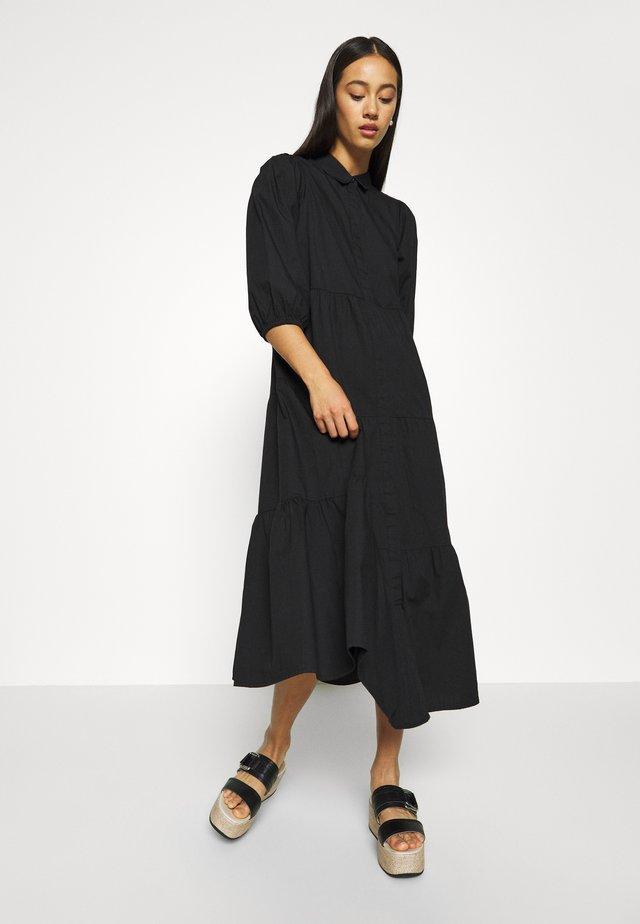 VMCHRISTINE 3/4 SLEEVE DRESS - Shirt dress - black