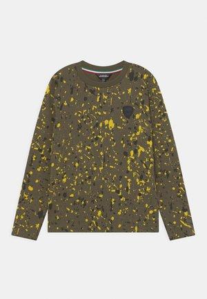 COLOUR DROPPING - Långärmad tröja - olive